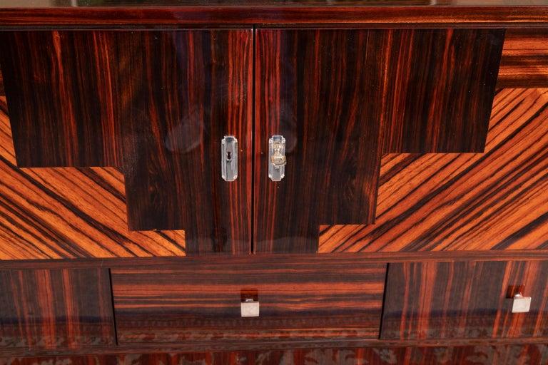 Grand Art Deco French Sideboard in Macassar Wood 1
