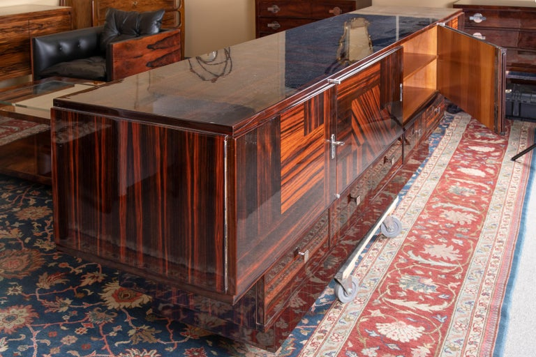 Grand Art Deco French Sideboard in Macassar Wood 3