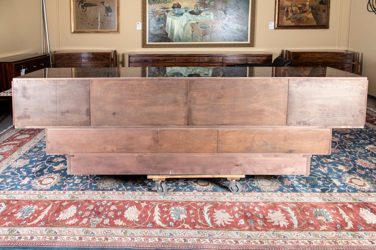 Grand Art Deco French Sideboard in Macassar Wood 4