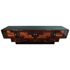 Grand Art Deco French Sideboard in Macassar Wood