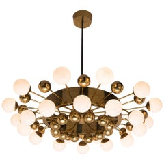 Grand Brass Sputnik Chandelier