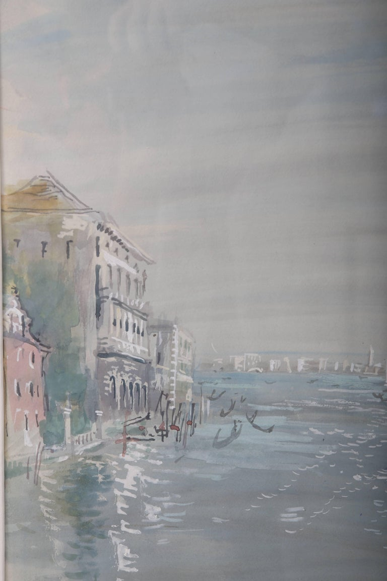 Italian Grand Canal of Venice Watercolor For Sale