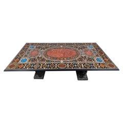 Grand, Dramatic Pietra Dura Table
