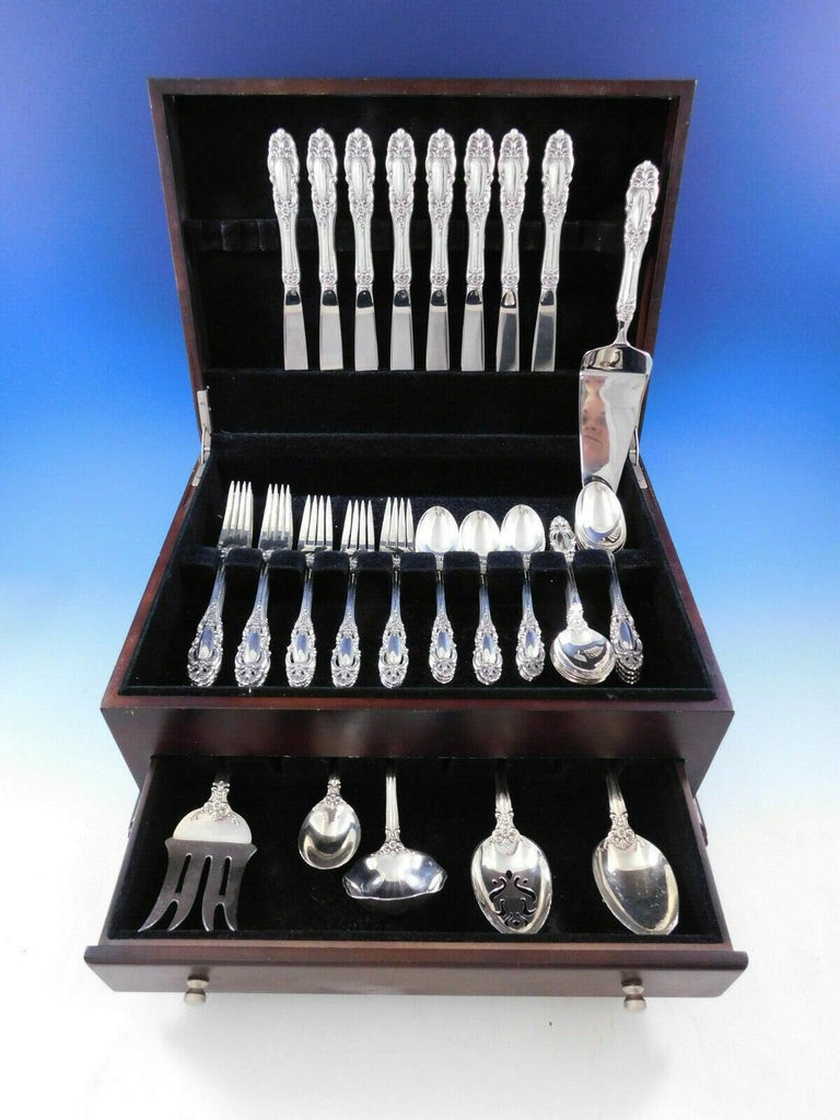 Grand Duchess by Towle sterling silver flatware set - 46 pieces. This set includes:  8 knives, 9 1/4