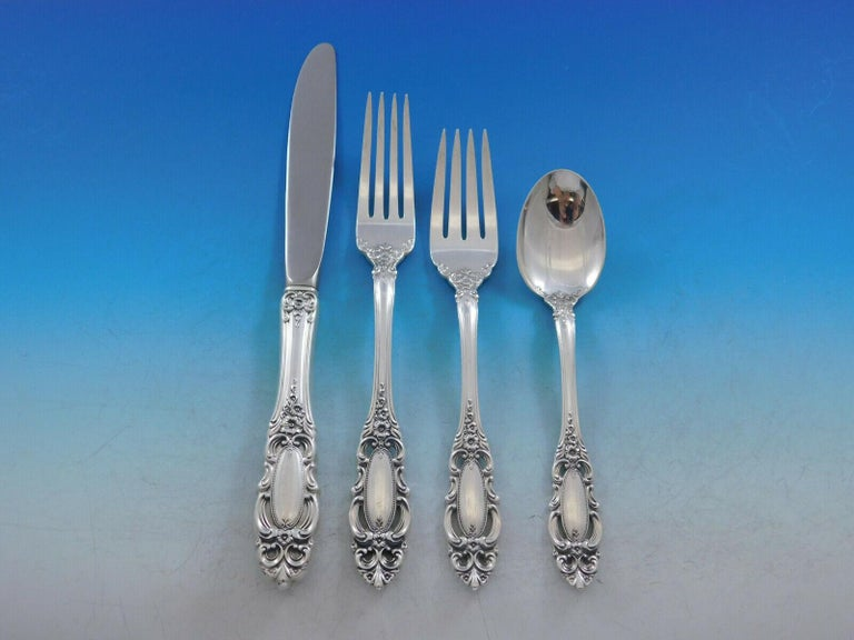 Grand Duchess by Towle Sterling Silver Flatware Set for 8 Service 46 pieces In Excellent Condition For Sale In Big Bend, WI