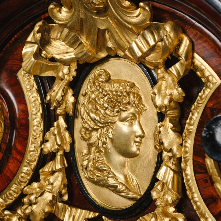 Gilt Grand Figural Cartel Clock after Gilles-Marie Oppenord For Sale