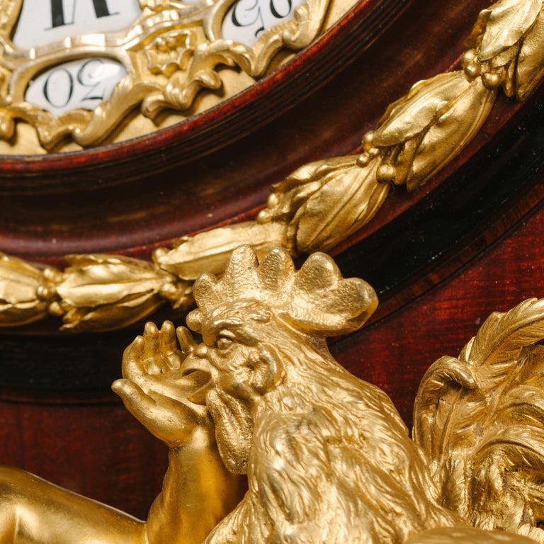 Grand Figural Cartel Clock after Gilles-Marie Oppenord In Good Condition For Sale In London, GB