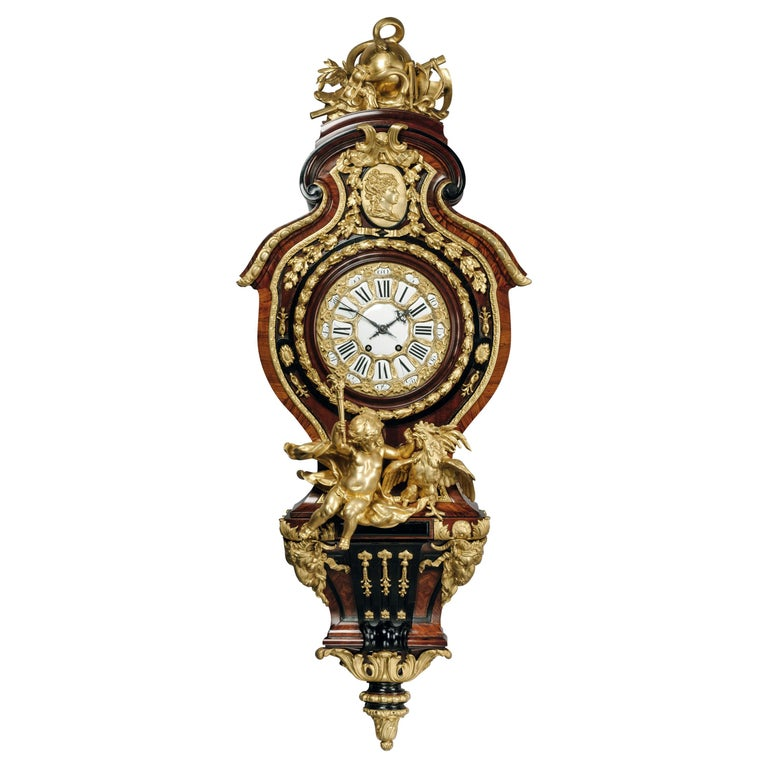 Grand Figural Cartel Clock after Gilles-Marie Oppenord For Sale