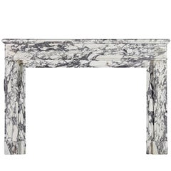 Grand Fine French Marble Original Antique Fireplace Surround