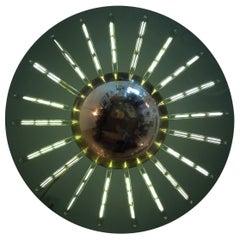"""Grand Flush """"Saturno"""" Glass Ceiling Light"""