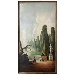Grand Framed Oil Painting on Canvas by E. Carliez after H. Robert