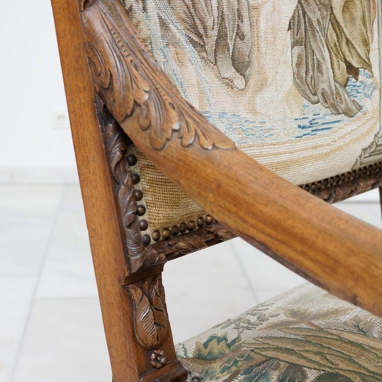 Grand German Late 17th Century Baroque Walnut Armchair For Sale 1