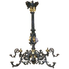 Grand Gothic Revival Chandelier, circa 1880