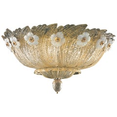 Grand Hotel 5116 80 Ceiling Lamp in Glass, by Barovier&Toso