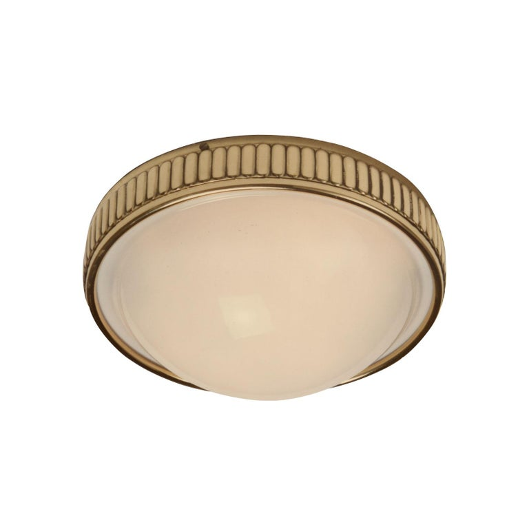 Austrian Grand Hotel Astoria, Vienna - Brass and Glass Wall Lamp, Re-Edition For Sale