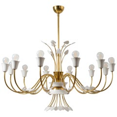 Grand Italian 12-Arm Chandelier, Late 1940s