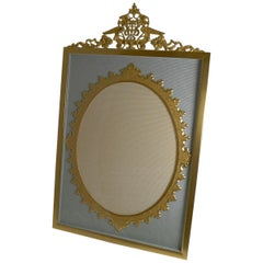 Grand Large Antique French Gilded Bronze Photograph Frame, circa 1900