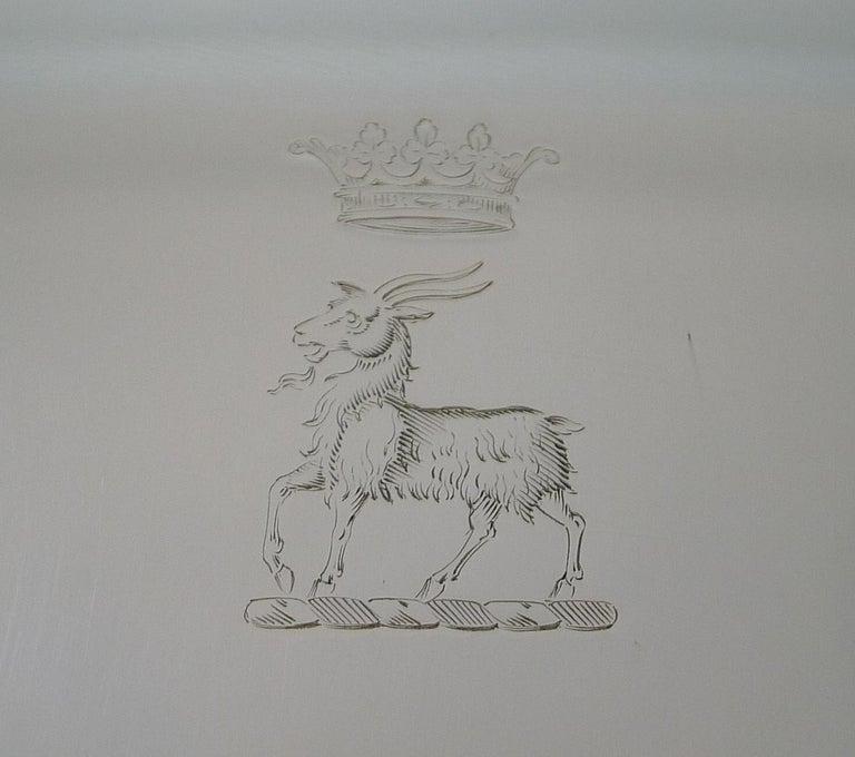 Grand Large Elkington Cocktail Tray / Salver, Reg., 1914 For Sale 1