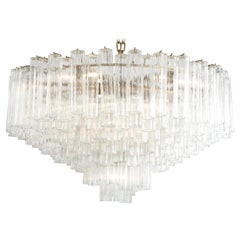 Grand Large Murano Glass 1970s High Style Chandelier