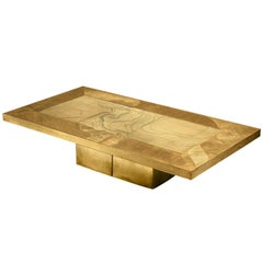 Grand Nadie Jenatzy Coffee Table in Etched Brass