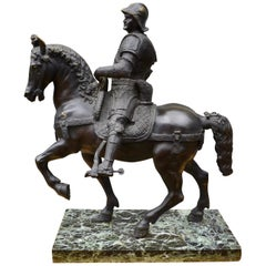 Grand Tour Bronze of the Equestrian Statue of Colleoni After Verrocchio