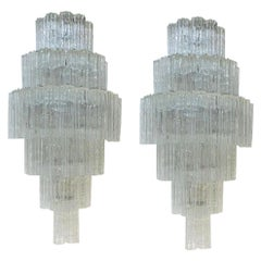 Grand Pair of Mid-Century Modern Tronchi Wall Sconces
