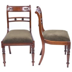 Grand Pair Regency Style Tulip Back Side Chairs, 20th Century