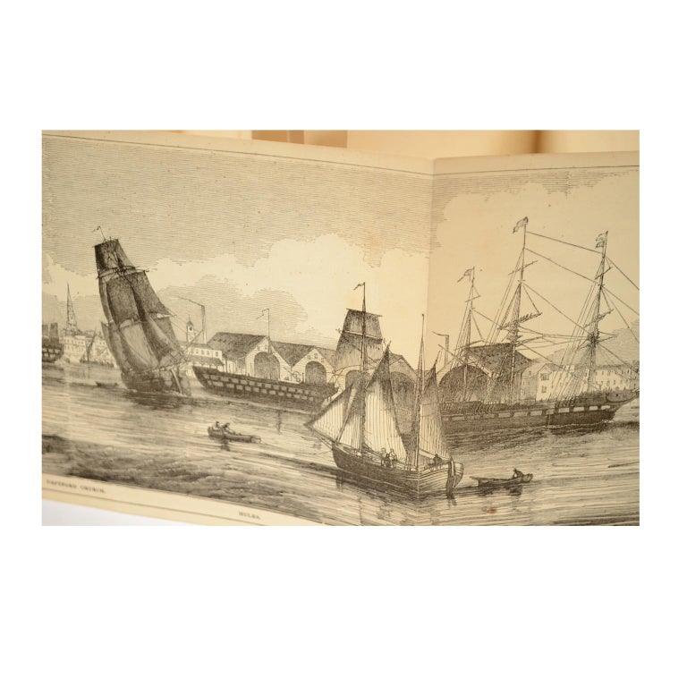 Mid-19th Century Grand Panorama of London, 1849 For Sale