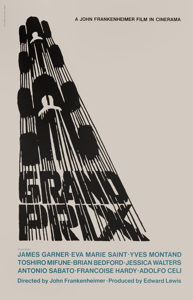 American 'Grand Prix' Film Poster For Sale