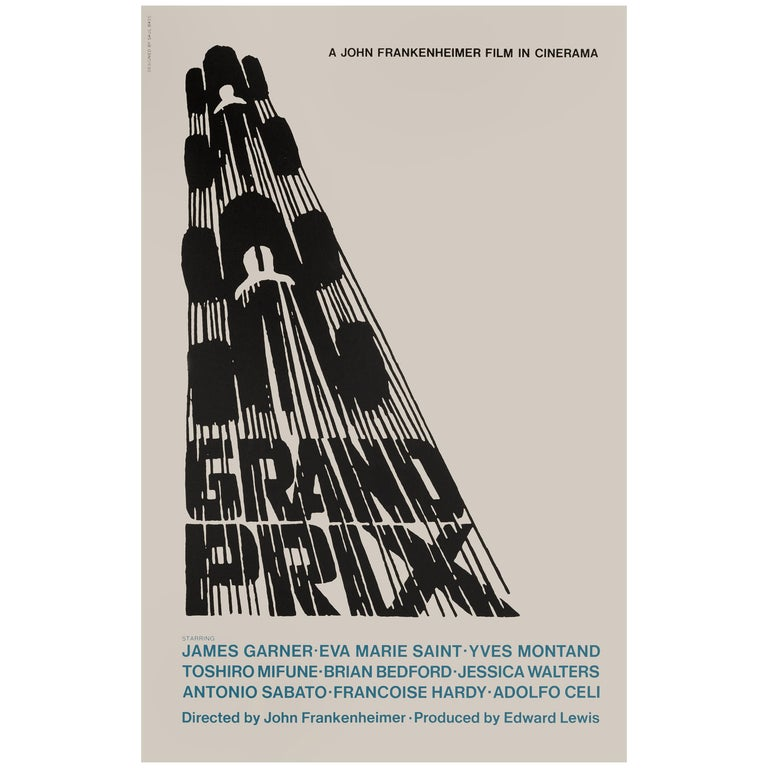 'Grand Prix' Film Poster For Sale