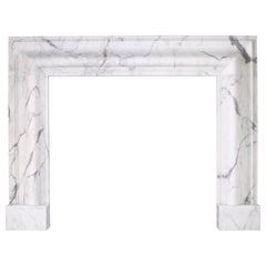Grand Queen Anne Style Bolection Fireplace in Italian Statuary Marble Nr. 2
