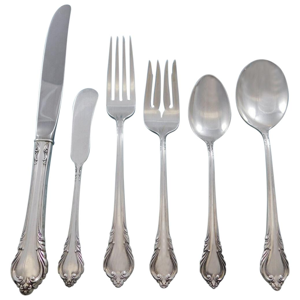 Grand Recollection, International Sterling Silver Flatware Set Service 56 Pieces