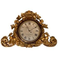 Grand Regency Gilt Wall Mounted Clock by Wm Johnson London