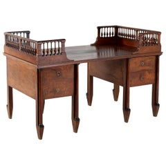 Grand Scale 18th Century Walnut Italian Desk