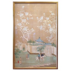 Grand Scale 19th Century Chinoiserie Painted Panel