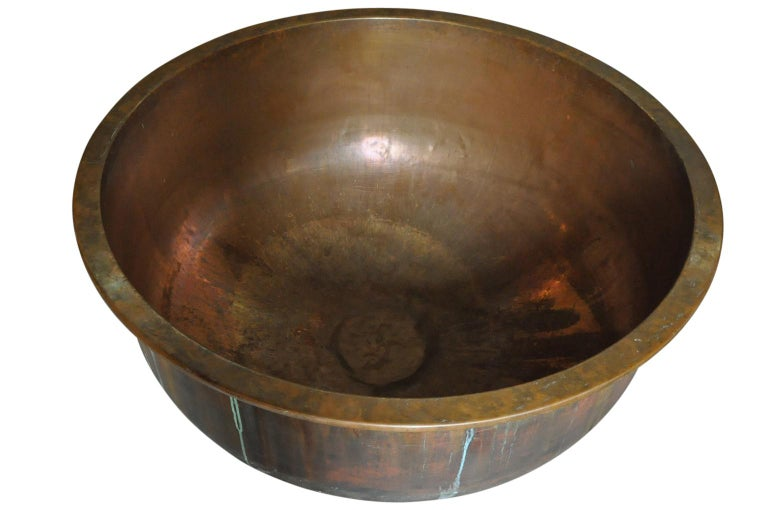 French Grand Scale Copper Cheese Vat - Kettle For Sale