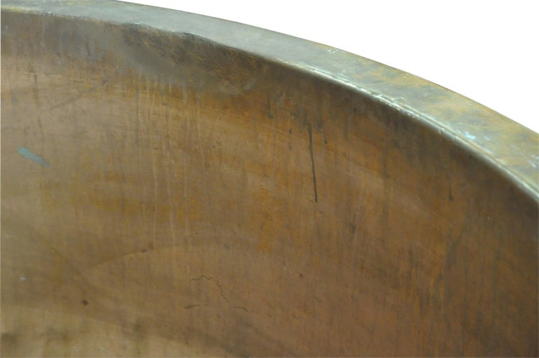 19th Century Grand Scale Copper Cheese Vat - Kettle For Sale