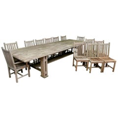 Grand Scale Kingsley Bate Teak Table with 14 Chairs