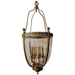 Grand Size Antique French Bronze Lantern