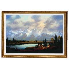 """""""Grand Teton"""" Original Painting by Heinie Hartwig"""