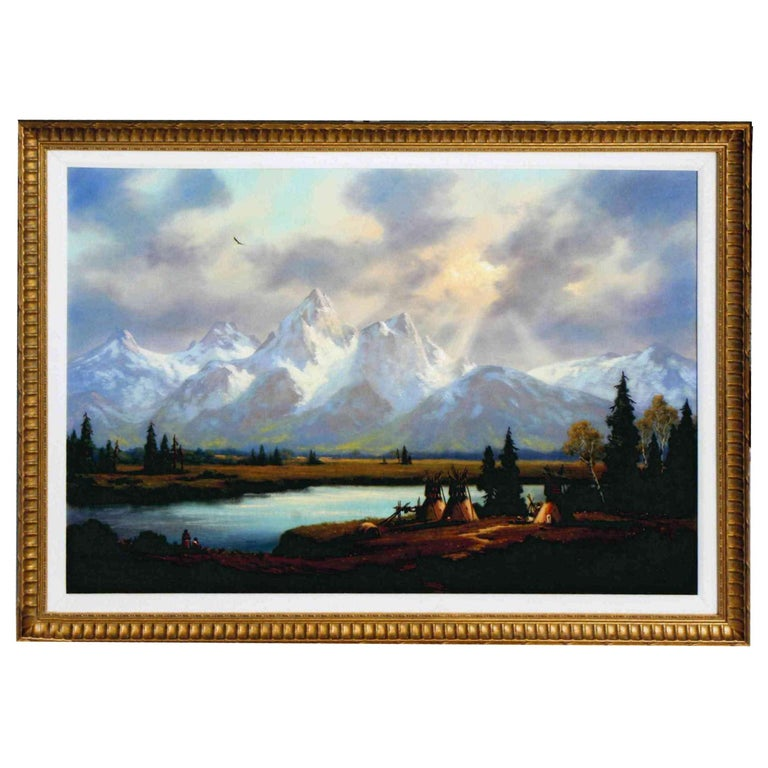 """""""Grand Teton"""" Original Painting by Heinie Hartwig For Sale"""