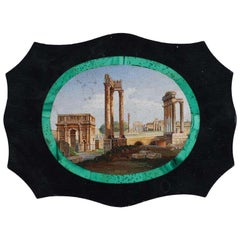 Grand Tour 19th Century Italian Micromosaic Large Plaque