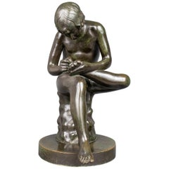 """Grand Tour """"Boy With Thorn"""" or """"Spinario"""" Bronze Sculpture"""