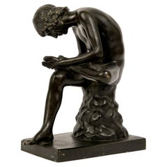 """Grand Tour """"Boy with Thorn"""" or Spinario Bronze Sculpture"""