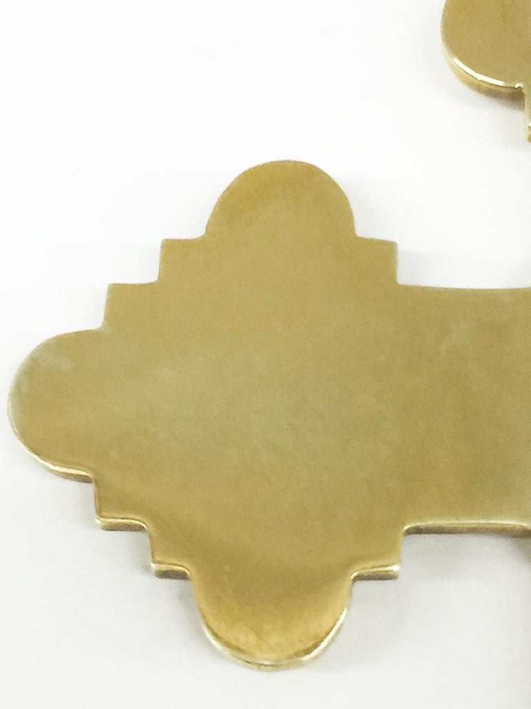 Grand Tour Brass Micro Mosaic Cross, Italy For Sale 4