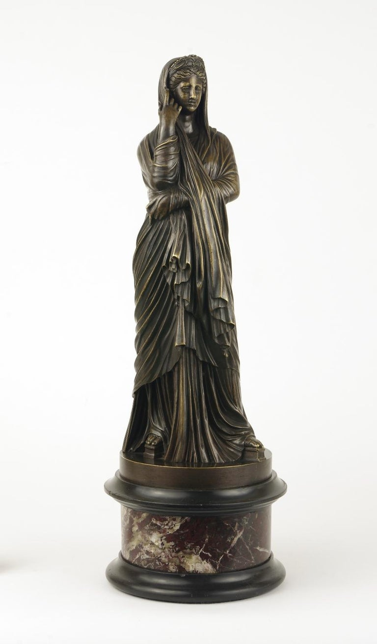 Grand Tour Bronze Figure of Pudicity, circa 1890 For Sale 4