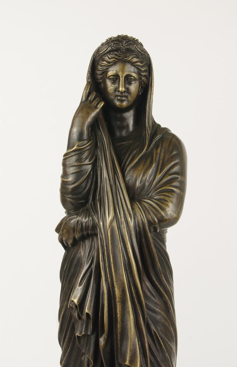 Italian Grand Tour Bronze Figure of Pudicity, circa 1890 For Sale