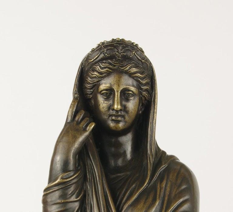 19th Century Grand Tour Bronze Figure of Pudicity, circa 1890 For Sale