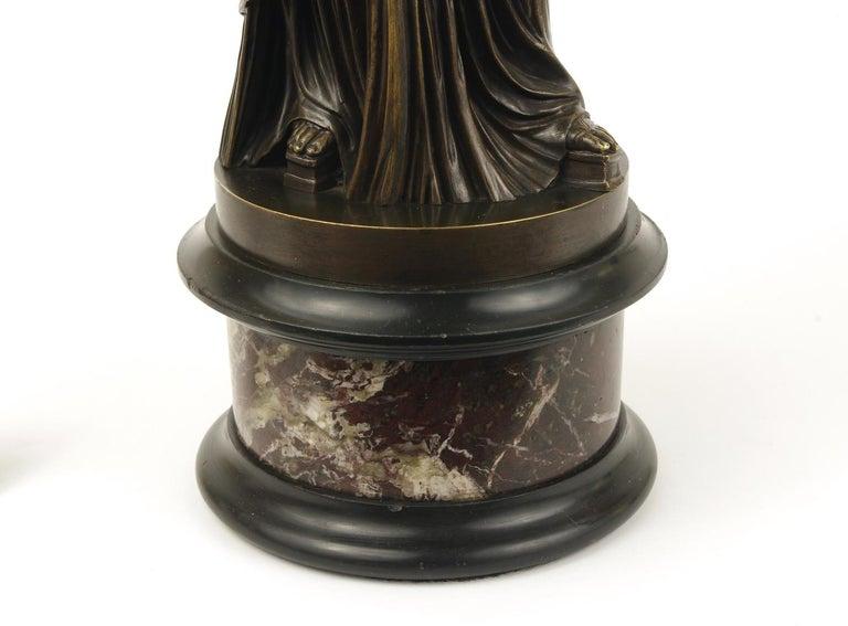 Grand Tour Bronze Figure of Pudicity, circa 1890 For Sale 1