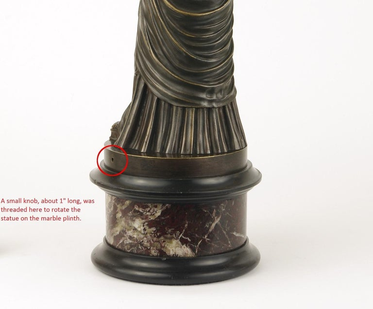 Grand Tour Bronze Figure of Pudicity, circa 1890 For Sale 3